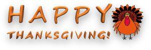 Happy Thanksgiving! - No School