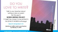 DO YOU LOVE TO WRITE? Talk to your teacher about writing a story or poem for this year's Words Writing Project. It might be chosen to be printed in the […]